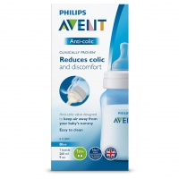BIBERON AVENT CLASICO PLUS AZUL 9OZ 260ML.