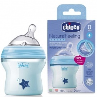 BIBERON CHICCO BLUE NATURALFEELING  5OZ 150ML 0M+