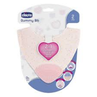BABERO CHICCO GUMMY BIB TEETHER GIRL